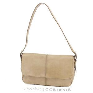 Francesco Biasia Shoulder bag Beige Woman Authentic Used F1247