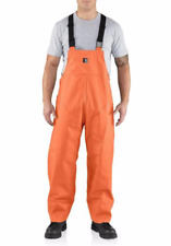 CARHARTT SURREY PVC WATERPROOF RAIN BIB WORK OVERALL, 2XL, 100101