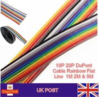 DuPont Cable Rainbow Flat Line Support Wire Soldered Wire Arduino Diy Kit UK POS