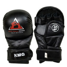 Krav Maga leather MMA TRAINING SPARRING GLOVES with long closing