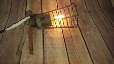 Vintage Industrial Gripper Inspection Lamp Caged Workshop Clip on