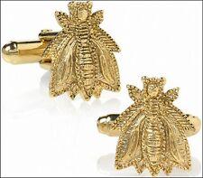 "Napoléon's Bee Cufflinks 24 Karat Gold-Plate over Pewter 0.5"" x 0.75"""