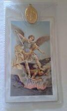 ST San Michele preghiera CARD MEDAGLIA Verse Arcangelo protezione in plastica Wallet