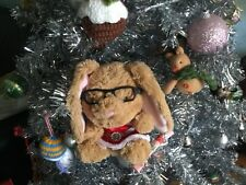 Build a Bear Smallfrys Rabbit with Glasses and Christmas Dress