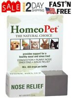 HomeoPet Nose Relief of Sneezing, Runny nose, Congestion for Dog Cat Bird Rabbit