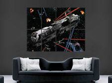 STAR WARS POSTER MILLENNIUM FALCON WALL ART PICTURE PRINT LARGE