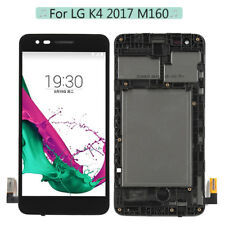 Black For LG K4 2017 M150 M160 LV1 LCD Screen Touch Digitizer Replacement +Frame