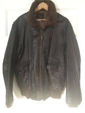 1985 AVIREX U.S.NAVY Type G-1 Flight Bomber Leather Jacket XL 46 Tall/long XXL