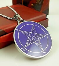 Church of Satan Sigil of Baphomet - M.B. Stainless Steel (316L) PURPLE
