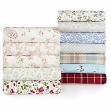 laura ashley 4piece deep pocket flannel sheet set bristol paisley pattern queen - Flannel Sheets Queen