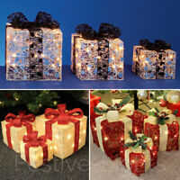 INDOOR CHRISTMAS XMAS MAINS BATTERY LED PARCEL PRESENT TREE DECORATION LIGHTS