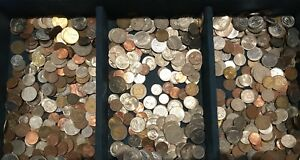Mixed World Coin Weight 225 Grams. Bulk. Not Checked For Variety. Great new mix.