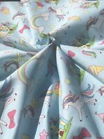 Unicorn Rainbow Clouds Cotton Fabric.Great Quality.Masks, Quilt,Kids Cotton. BTY