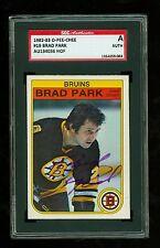 Brad Park Autographed 1982-83 OPC Hockey Card #19 Bruins SGC Authentic Encased
