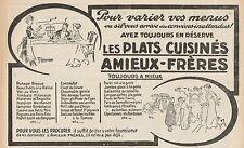 Y7408 Amieux-Frères les plats cuisinés - Pubblicità d'epoca - 1912 Old advert