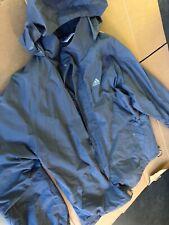 Mens Vintage Adidas Hooded Windbreaker Jacket Grey  Size Large