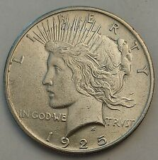 More details for 1925-p us peace dollar silver coin $1 usa - lovely bright condition (free post)