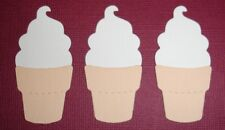 6 SOFT SERVE ICE CREAM CONE DIE CUT EMBELLISHMENTS SORBET BEACH FULLY ASSEMBLED