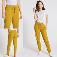 RRP £22.50 M&S Collection Linen Rich Tapered Leg Trousers                   (IW)
