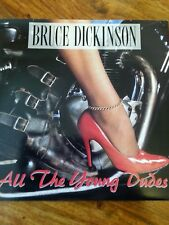 Record 7 inch single Bruce dickinson on all the young dudes