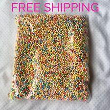 Multicolor Rainbow Microbeads Styrofoam Floam Beads Polystyrene ASMR Slime Balls