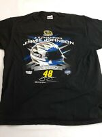 2009 / 2010 Nascar Chase Authentics XL Black JIMMIE JOHNSON #48 T Shirt 🚘🎁gift