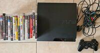 Sony PlayStation 3 Slim Console 160GB Bundle 1 Wireless Controller 16 Games
