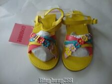 Gymboree HAPPY RAINBOW Yellow Flower Sandals Shoes Girl Size 10 NWT - Summer