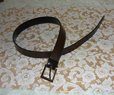 100% Genuine Leather Pin Buckle Belt Brown CLE 34/85