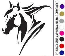 HORSE  HEAD DECAL UTE 4WD HORSE FLOAT TRAILER TRUCK 006