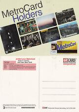 NEW YORK CITY TRANSIT METRO CARD UNUSED COLOUR POSTCARD