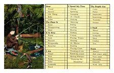 Florida Vintage Postcard Hunting & Fishing is Great Time Saver Souvenir Novelty