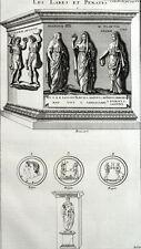 Lares Penates Religion Romaine Antiquité Montfaucon Rome Gravure XVIIIe