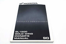 New Owners Manual 1990 GL1500 Goldwing OEM Honda Operators Book        #L01