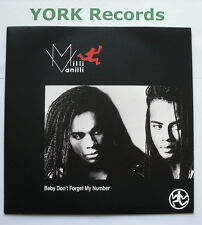 """MILLI VANILLI - Baby Don't Forget My Number - Ex 7"""" Single Cooltempo COOL 178"""