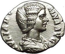 Julia Domna Caracalla & Geta mother Silver Ancient Roman Coin Vesta Cult  i39609