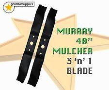 "ride on mower  MURRAY 40"" mulching 3 'n' 1 BLADES x 2"