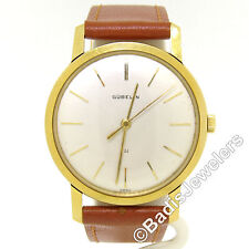 Vintage Men's Gubelin 18K Yellow Gold Slend O Matic 34mm Swiss Wrist Watch
