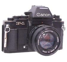 CANON F-1 SLR Camera With Canon 50mm f/1.4 FD Mount Camera Lens  - M27