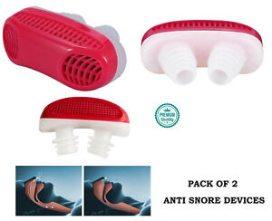 2 in 1 Anti Stop Snoring Snore Free Magnetic Silicone 2 Snore plug Sleep Device