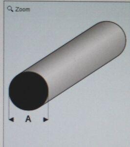 "MAQUETT 400-53/3 White  Styrene Round Rod 1.50mm / 0.060"" x 330mm / 13""   X5"