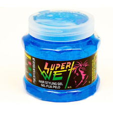 Super Wet Blue Hair Styling Gel. Professional Styling. Hard Holding. 8.8 Oz.