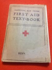Vintage 1940 American Red Cross First Aid Textbook ~ Revised Edition Paperback
