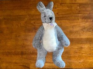 "Vermont Teddy Bear Company Jointed Gray Bunny Rabbit Plush 20"" 1984 USA"