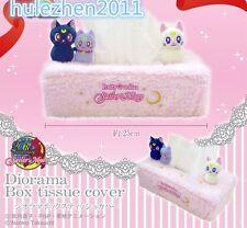 Sailor Moon Luna Artemis Diana Cats Plush Tissue Box Holder Cover NEW
