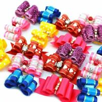 With Rubber Band Hair Bows Products Grooming Accessories Puppy Small Dogs
