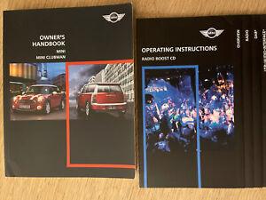 BMW MINI & MINI CLUBMAN OWNER HANDBOOK MANUAL & AUDIOBOOK GENUINE