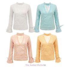 Hüftlange Damenblusen, - tops & -shirts aus Baumwolle für die Freizeit