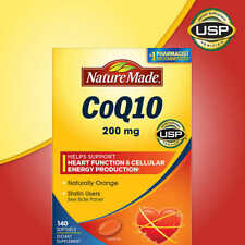 140 Nature Made CoQ10 Coenzyme Q10 Antioxidant Heart Health 200 mg 140 Softgels