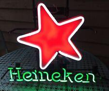Vintage Heineken Beer (Real) Neon Sign Double - Triple Star Effect Vg+ Nice